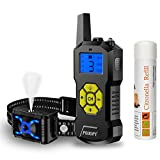 Citronella Spray Dog Training Collar with Remote Control-Vibration Beep Spray Dog Bark Collar with LED Light-2600 ft Range Rechargeable Adjustable No Electric Shock Harmless Anti-Bark Collar