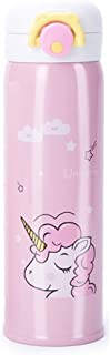 Kids Water Bottle Thermoses Unicorn Water Bottle Cup Metal Stainless Steel Vacuum Insulated Water Flask for School Kids Girls Lunch Box Leak Proof BPA Free No Straw - 17oz (Pink 17oz)