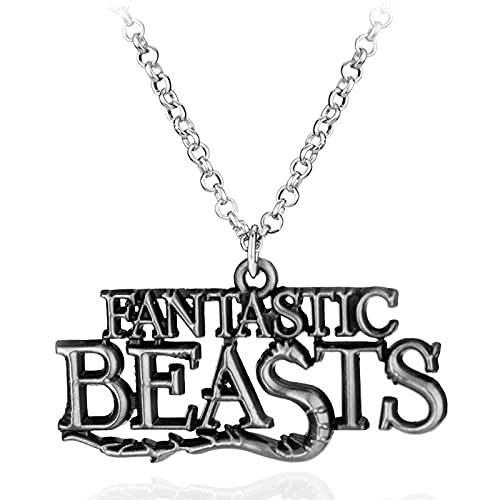 Animales fantásticos y dónde encontrarlos Aleación Scamander Collar Collares Regalo para los fanáticos de la película Jewelryr-silver_plated