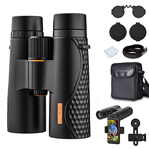 Simitten 12X42 Binocular Large 20 mm Eyepiece,Binocular for Adults with Smart Phone,Photograph Holder,Durable,Binoculars Telescope Suit for Hunting,Concert,Sporting Games and Traveling