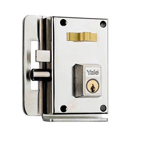 Yale 10CIHN Cerradura de Sobreponer, A Mano Izquierda Entrada 45 mm / Izda Hierro Niquelado