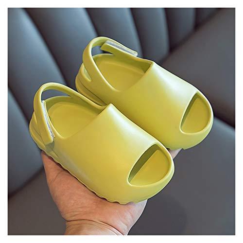 Youpin - Sandali da spiaggia in schiuma per bambini, per adulti, in resina, leggera, colore limone, taglia scarpa: 180 (misura 16,5 17 cm)