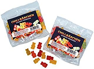 Schleuderhannes Scharfe Gummis, 100g Megatüte Gummi Bärchen mit Chili