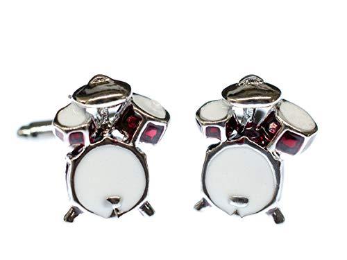 Miniblings Schlagzeug Manschettenknöpfe Musik Drums Instrument Knöpfe + Box - Herrenschmuck Manschettenknopf Cufflinks Hemdknöpfe I Holzbox inklusive