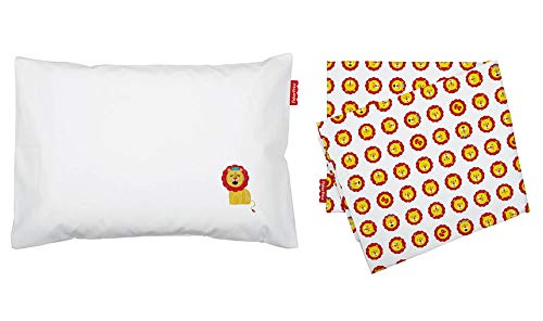 Jogo De Lencol P/Carrinho Fisher-Price Colors Estampado/Liso C/Bordado Pct C/02Pc//Leao, Fisher-Price, Amarelo