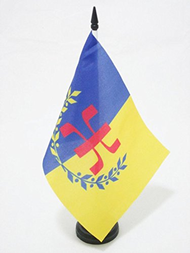 flaggen Berber TISCHFAHNE 14 x 21 cm AZ FLAG TISCHFLAGGE KABYLEI GBP 21x14cm
