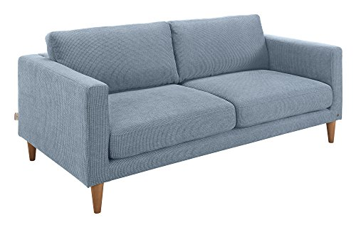 TOM TAILOR Scandi Sofa, Modernes Sofa im Retrostil, TCU26 light blue, Blau, (B/H/T)187 x 100 x 64 cm