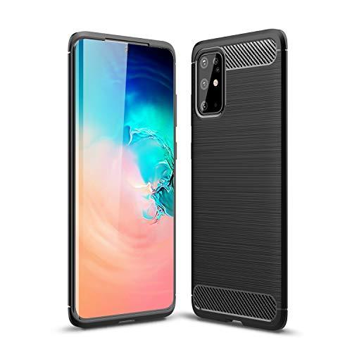 Cruzerlite Samsung Galaxy S20 Plus hülle, Samsung Galaxy S20+ hülle, Carbon Fiber Texture Design Cover Anti-Scratch Shock Absorption Case Schutzhülle für Samsung Galaxy S20 Plus (Black)