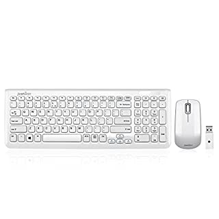 Perixx PERIDUO-710 Wireless Compact Keyboard and Mouse Combo Set, Membrane Chiclet Keys with Numeric Keypad, Piano White (B006UIACYK) | Amazon price tracker / tracking, Amazon price history charts, Amazon price watches, Amazon price drop alerts