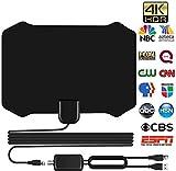AKDSteel Indoor TV Antenna Amplified Digital HDTV 200 Miles Range 4K 1080p
