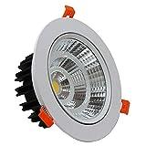 FactorLED Foco Empotrable Downlight LED 25W, Angulo de Apertura de 120º, Aro en Acabado Blanco, Foco LED para Interiores (Blanco frío)