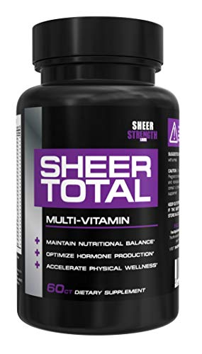 SHEER TOTAL, #1 Top Rated and Best Multivitamin For Men, 60 count (30-Day Supply)