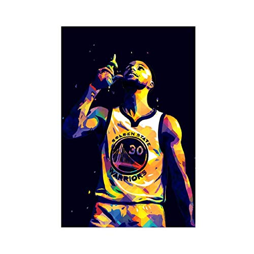 Stephen Curry Active Legend Star Legend - Póster creativo de estrella de baloncesto para decoración de pared, para sala de estar, dormitorio, 40 x 60 cm
