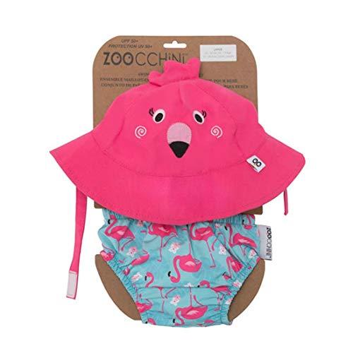 Zoocchini Costumino Contenitivo e Cappellino - Lavabile, Impermeabile, Protezione UPF 50+, 6-12 mesi