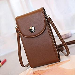 Fashion Single-Shoulder Bags Women Handbags Mini Cell Phone Bags Simple Small Crossbody Bags Casual Ladies Flap Shoulder Bag(Black) (Color : Coffee)