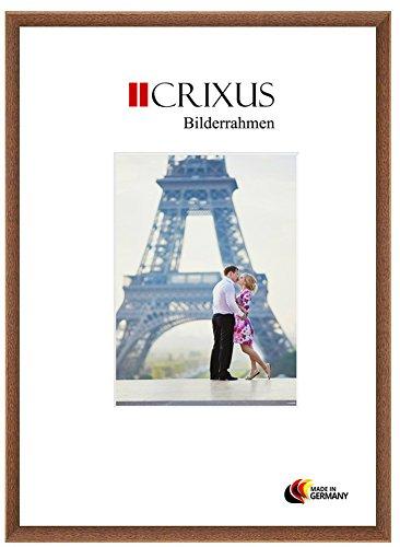 CRIXUS Crixus23 Marco de Fotos de Madera SÓLIDA para 76 x 117 cm Fotos, Color: Marrón Roble, con Vidrio acrílico antirreflectante (1mm), Ancho del Marco: 23mm, Dimensiones externas: 79,4 x 120,4 cm