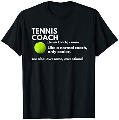 Funny Tennis Coach Definition Coaching Gift T Shirt product image