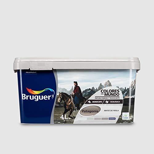 Bruguer 23553 Pintura paredes y techos, Patagonia matiz perla, 4 litros