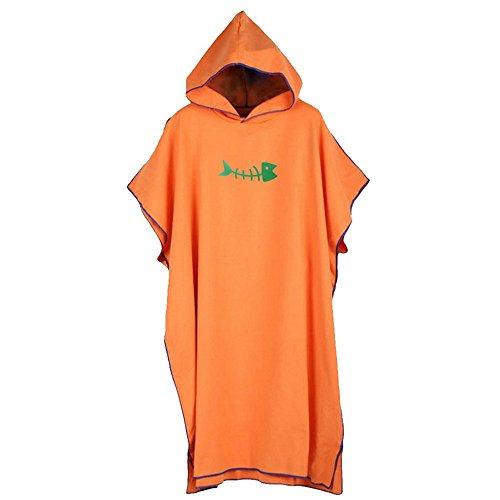 F.Lashes Häuse Erwachsene Polyester Kreativ Kapuzen Bademantel Weich Damen Morgenmantel mit Kapuze Saunamantel (orange)