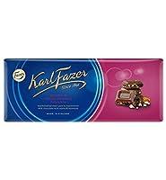 Fazer Karl Fazer ファッツェル カールファッツェル レーズン&ヘーゼルナッツ チョコレート 10 枚 x 200gセット フィンランドのチョコレートです [並行輸入品]