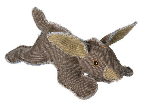 HUNTER CANVAS Wild Rabbit Hundespielzeug, Vintage-Style, mit Baumwolle, Quietschspielzeug, Hase, 27 cm