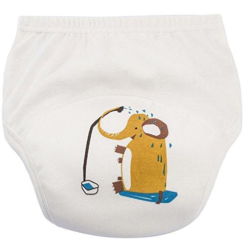 KISBINI ベビー トレーニングパンツ 女の子 男の子 キッズ 子供 6層 綿100% 可愛いパンツ 男女兼用 トレーニングパンツ 4枚組 [2258]