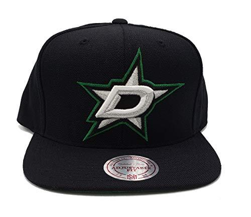 Mitchell & Ness Dallas Stars Solid Wool Black Adjustable Snapback Hat NHL