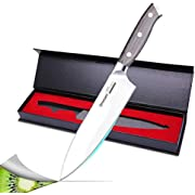 Ommani Küchenmesser Kochmesser, Chefmesser 20cm Profi Messer Allzweckmesser aus Hochwertigem Deutschen Edelstahl, mit Geschenkbox