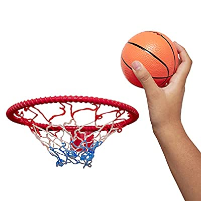 8-Inch Over The Door Basketball Hoop With mini Ball Set Or On The Wall ? Fun Sports Game - Great for Kids, Teens And Adults - By Katzco