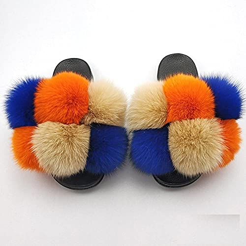 zuecos mujer,Zapatos de flush de Mao, zapatillas de lana anti-zorro de costura hecha a mano, zapatos de botas de color plana de gran tamaño, zapatos de botas de mujer, paleta de arrastre de la palabr