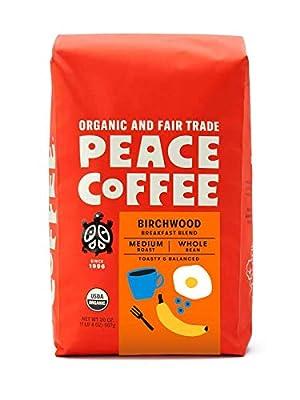 Peace Coffee, Organic Fair Trade Whole Bean Coffee