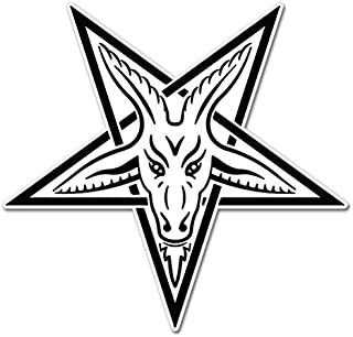 AK Wall Art Baphomet Goat Pentagram Occult Vinyl Sticker - Select Size