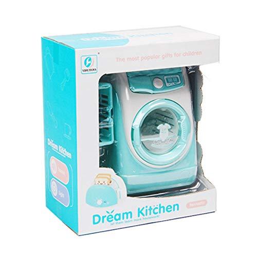 Lizefang Lavadora Eléctrica Juguete, Pequeños Electrodomésticos para Niños Bebé, Juego De rol Tareas del Hogar Mini Washing Machine Muebles Modelo, Washing Machine Set Mini Muñecas Y Designer