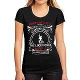 Mujer Camiseta Gráfico tee Shirt Dog Border Collie Negro Profundo