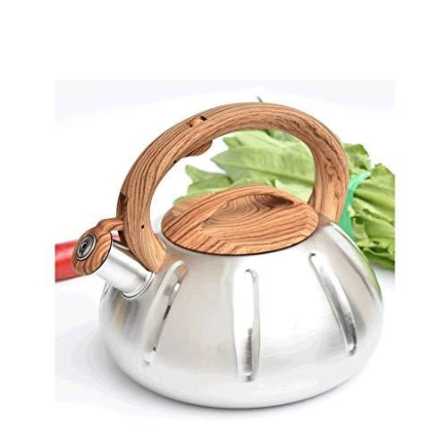 JN Herdkessel 3L große Kapazitäts Kettle Teekanne Reise Kettle Edelstahl Pfeife Mini Kessel Gas-Kocher Haus Kamin Gas Brennen Kessel