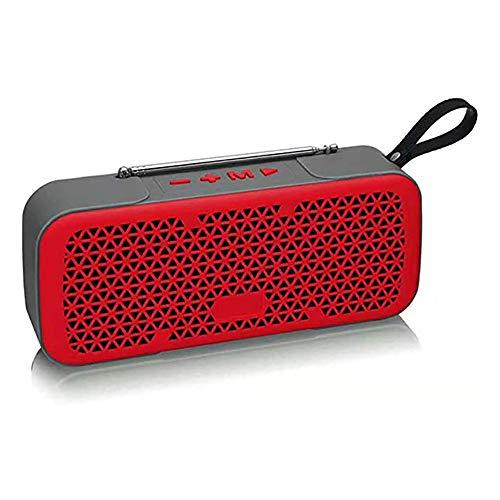 Zks Portable Radio, Bluetooth 4.0 Rétro Haut-Parleur Radio Haut-Parleur Stéréo avec Port USB Et AUX Port De Sortie pour Marche Randonnée Camping Walkman Pocket,Rouge