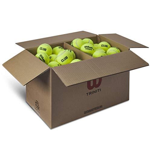 Wilson Palline da Tennis Triniti, 72 palline, Cartone 100% riciclabile, Giallo, WR8201501