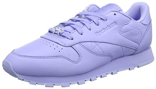 Reebok Classic Leather L, Damen Low-top, Violett (Grit-lilac Glow / Sleek Metallic), 38.5 EU (5.5 UK)