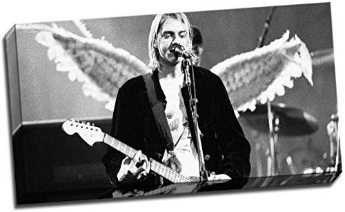 BBHH Kurt Cobain Angel Wings Star Heaven Print Poster 30X16 Inches