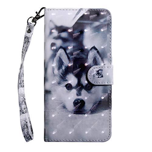 Tosim [LG X Power 2] Hülle Leder, Klapphülle mit Kartenfach Brieftasche Lederhülle Stossfest Handy Hülle Klappbar für LG X Power2 (LGM320N) - TOBXI010651#1