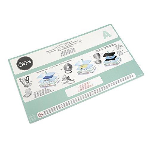 Sizzix 660584 Accessori Adattatore A Big Shot Plus, Standard, Acciaio Inossidabile, Bianco, 38.1 x 22.6 x 0.3 cm