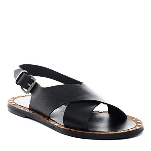 BACCINI Sandale Cuir Dana 39 EU Nu-Pieds Claquette Noir
