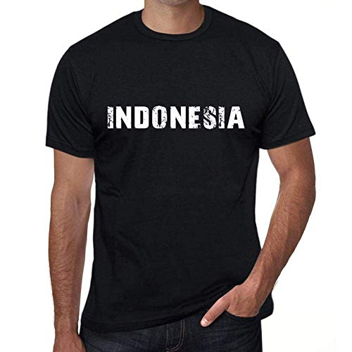 One in the City Indonesia Hombre Camiseta Negro Regalo De Cumpleaños 00550