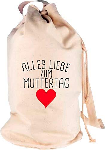 Shirtstown Sac à dos de voyage Motif amour pour la fête des Mères, Adulte (unisexe), naturel, 30 cm x 53 cm x 30 cm
