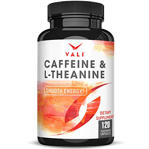 Caffeine 50mg & L-Theanine 100mg Pills for Smooth...