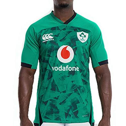 Männer Rugby Jersey Irish-Weltmeisterschaft Rugby Jersey, 2021 Green Ireland Heim/Auswärts Rugby-T-Shirt, Herren Komfortabler-Polo-Hemd Green-L