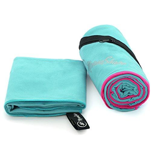 NirvanaShape ® Mikrofaser Handtücher | saugfähig, leicht, schnelltrocknend | Badehandtücher, Reisehandtücher, Sporthandtücher | Ideal für Reisen, Fitness, Yoga, Sauna