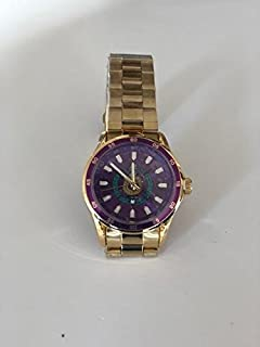 Exclusive Classic Omega Psi Phi Fraternity Color Face Gold Watch w/Shield