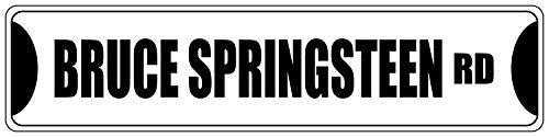 Straßenschild Bruce Springsteen, Schwarz, 10,2x 45,7cm, aus Aluminium