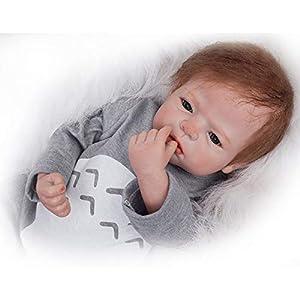 ZIYIUI Realista Bebe Reborn Niño Muñeca Reborn Baby Dolls Silicona Recién Nacido 22 Pulgadas Niños Juguete Regalo